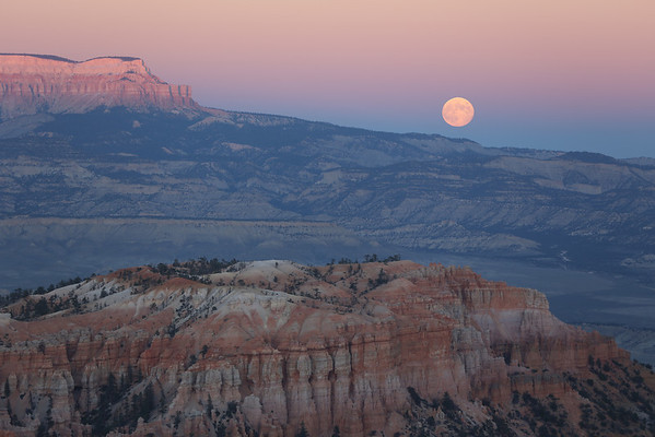 Moonrise at Bryce Canyon National Park, UT