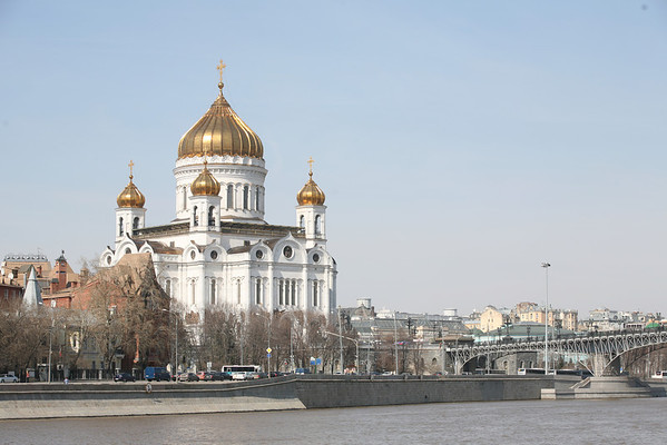 Cathedral of the Christ the Savior and the Patriarshy Bridge, Moscow