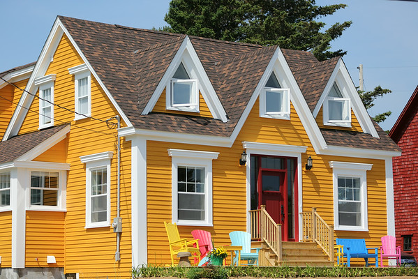 A Colorful House at Old Town Lunenburg, Nova Scotia