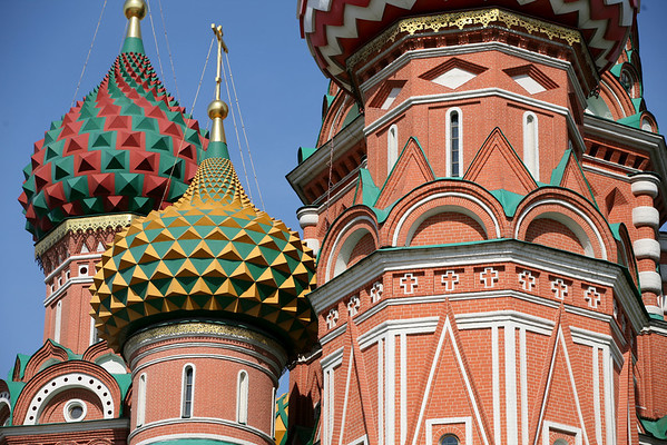 Saint Basil's Cathedral (or Pokrovsky Cathedral), Red Square, Moscow